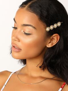 Pearl And Chain Detail Bobby Pin Hair Clip