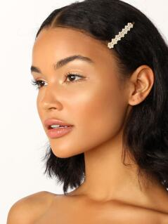 Mini Pearl Detail Single Hair Pin Clip