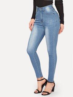 Bleached Dye Skinny Jeans