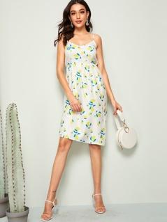 Lemon Print Sun Dress