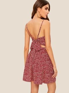 Tie Back Ditsy Floral Cami Sundress