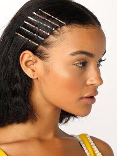 Twist Detail Set Of Six Bobby Pin Hair Clips
