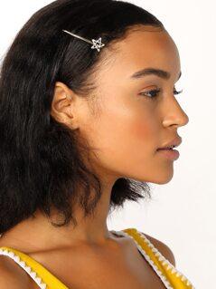 Baguette Crystal Star Bobby Pin Hair Clip
