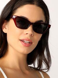 Sporty Wayfarer Style Clear Acrylic Sunglasses