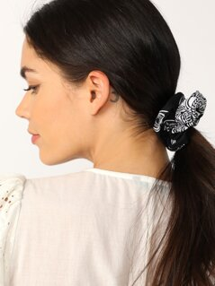 Bandana Print Cotton Hair Tie Scrunchie