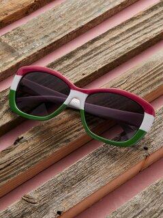 Multi Colored Square Acrylic Sunglasses