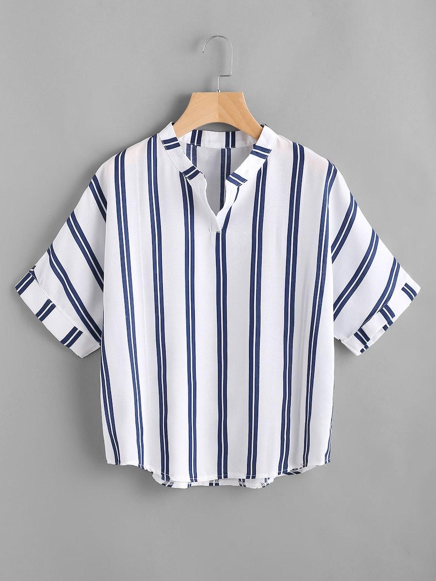 Фото - Полосатая блуза размера плюс от SheIn цвет многихцветные
