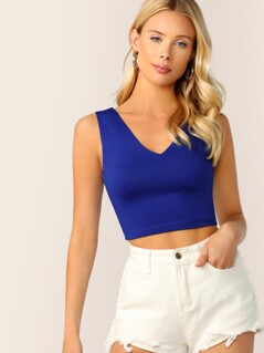 Solid Slim Fitted Tank Top