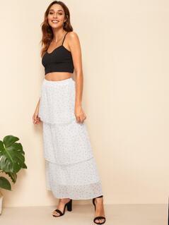 Polka Dot Layered Skirt