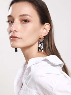 Rectangle Drop Earring