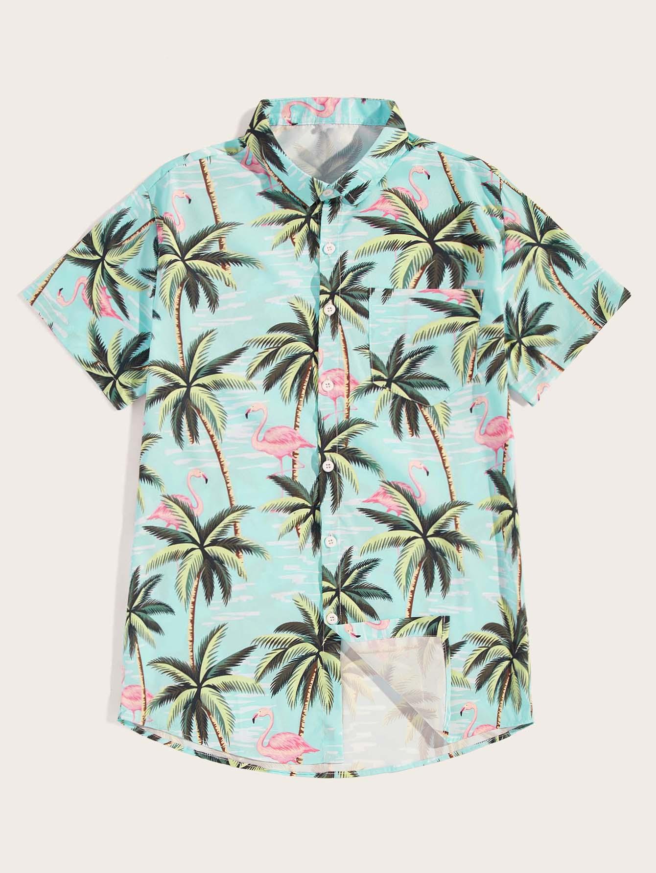 Фото - Мужская рубашка с графическим принтом от SheIn цвет многоцветный