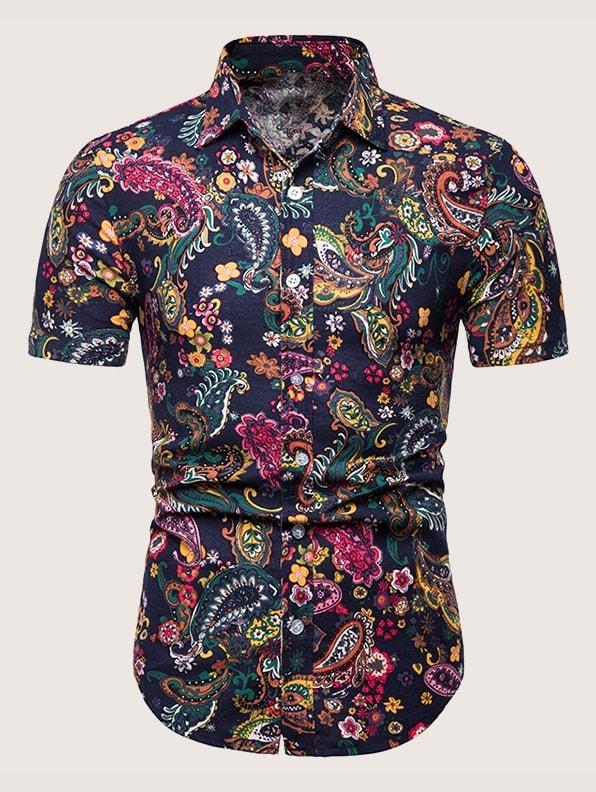 Фото - Мужская рубашка с модным принтом от SheIn цвет многоцветный