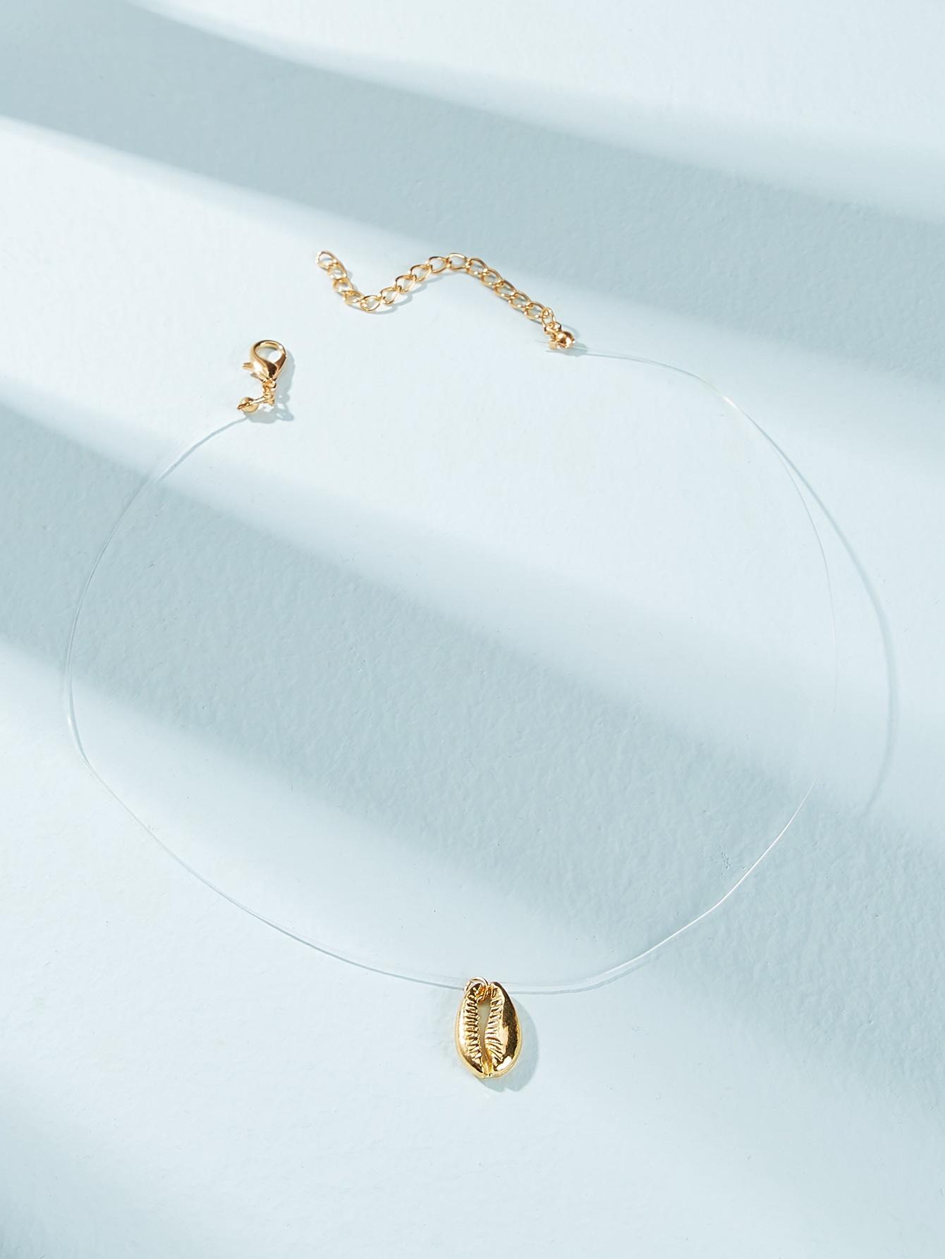 Фото - Ожерелье из ракушки 1шт. от SheIn цвет золотые