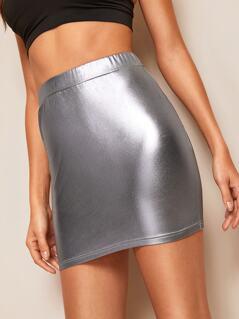 Metallic Bodycon & Tube Skirt