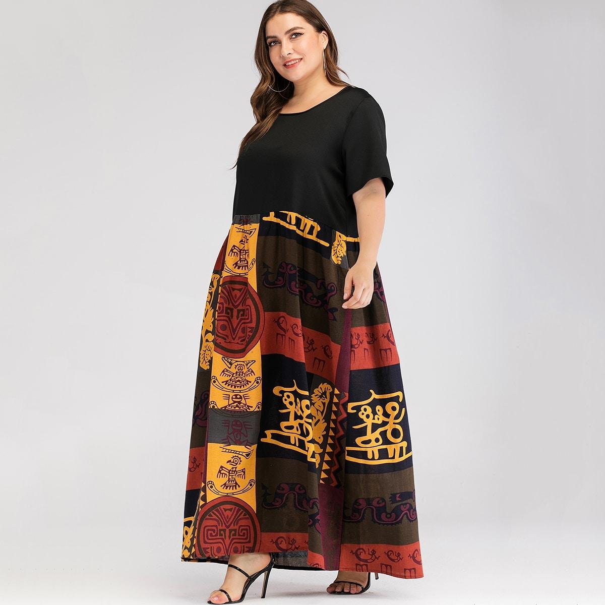 Veel kleurig Ingetogen Grote maten jurken