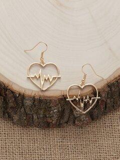 Heartbeat Hook Back Earrings
