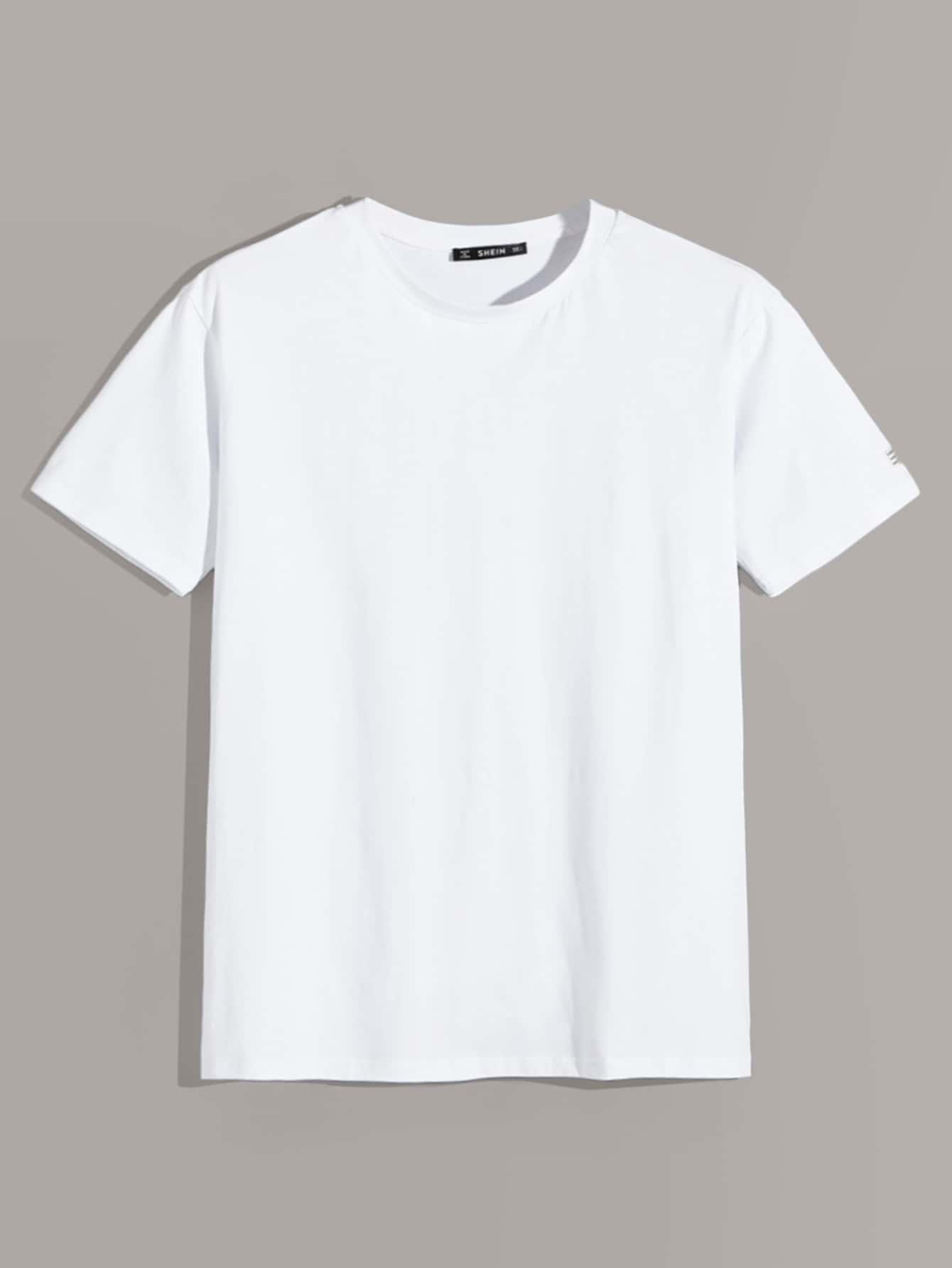 Фото - Мужской топ с коротким рукавом и карманом от SheIn белого цвета
