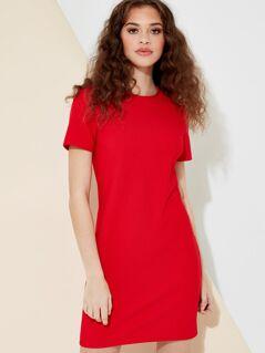 Short Sleeve Rib Bodycon Dress