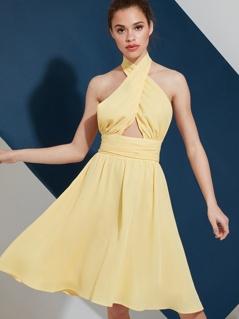 Halter Neck Occasion Dress