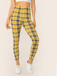 Tartan Print Crop Leggings