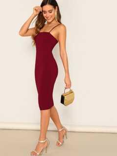 Solid Bodycon Cami Dress