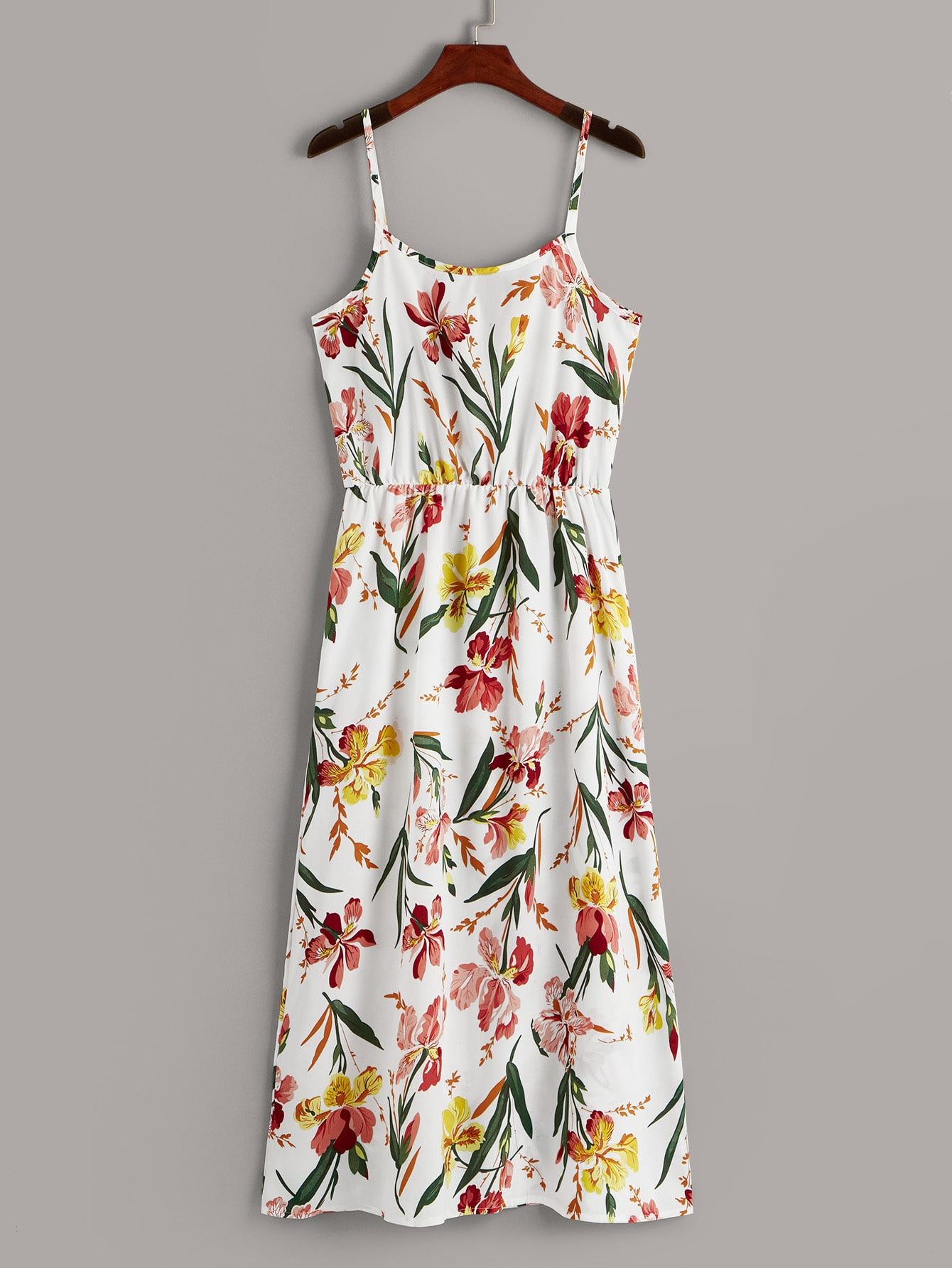 Фото - Платье на бретелях с цветочным принтом от SheIn цвет многоцветный