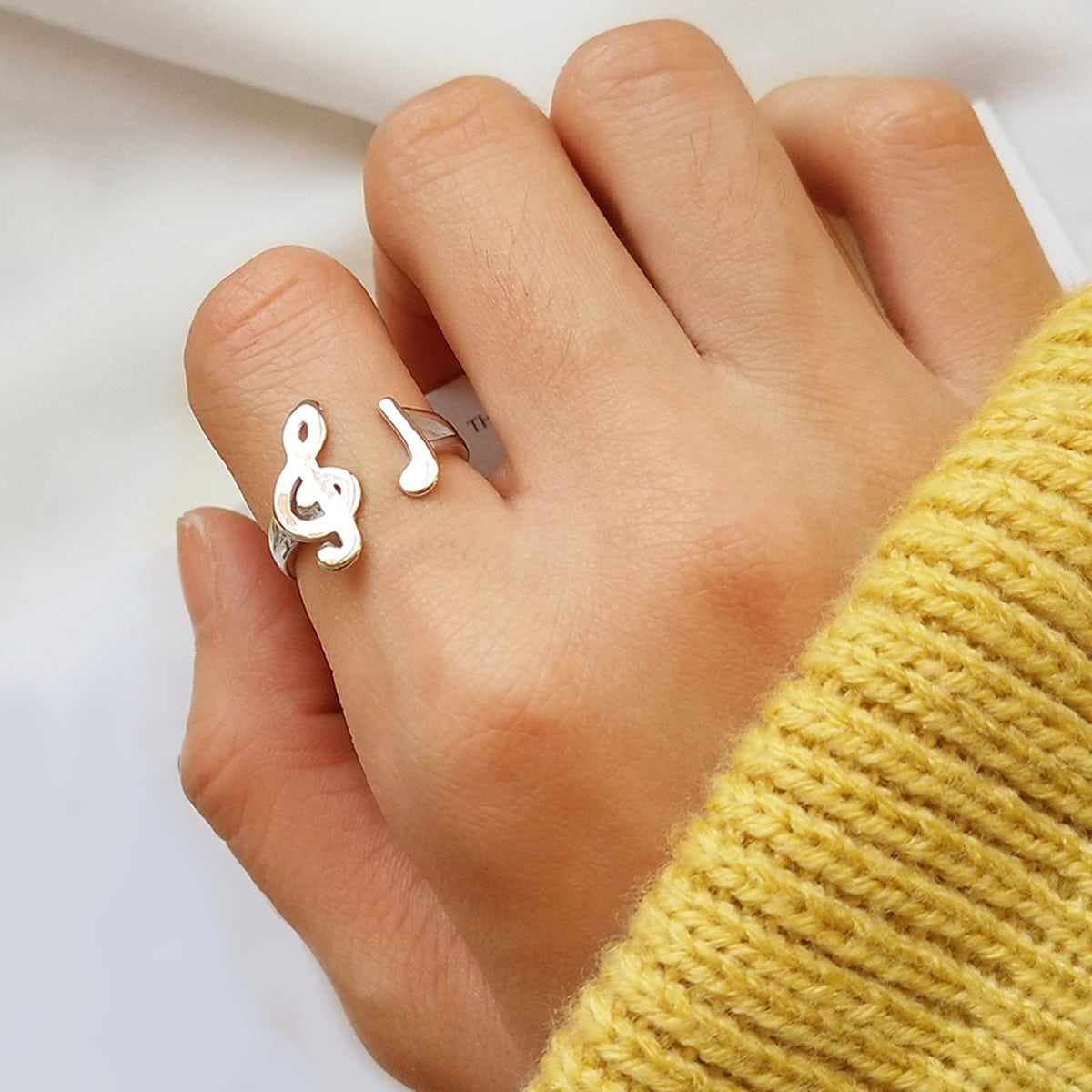 SHEIN / Ring mit Musiknote Design 1pc