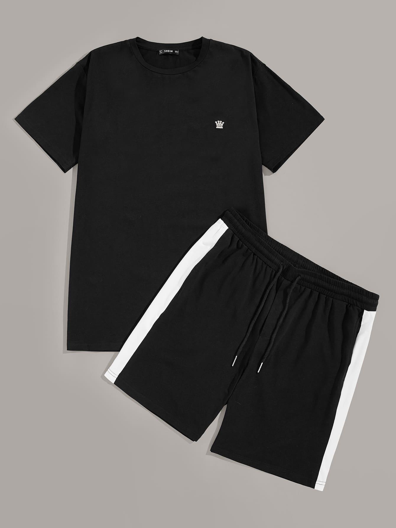 Фото - Мужские футболка и шорты от SheIn черного цвета