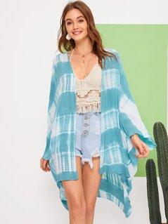 High Low Hem Tie Dye Kimono