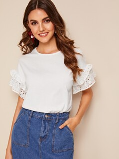 Schiffy Ruffle Trim Tee