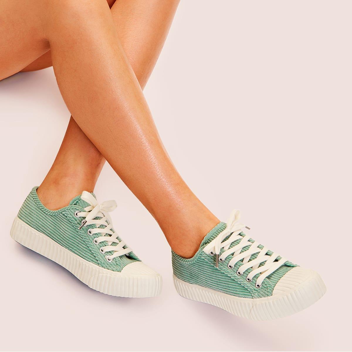 Groen Comfortabel sneakers Kant