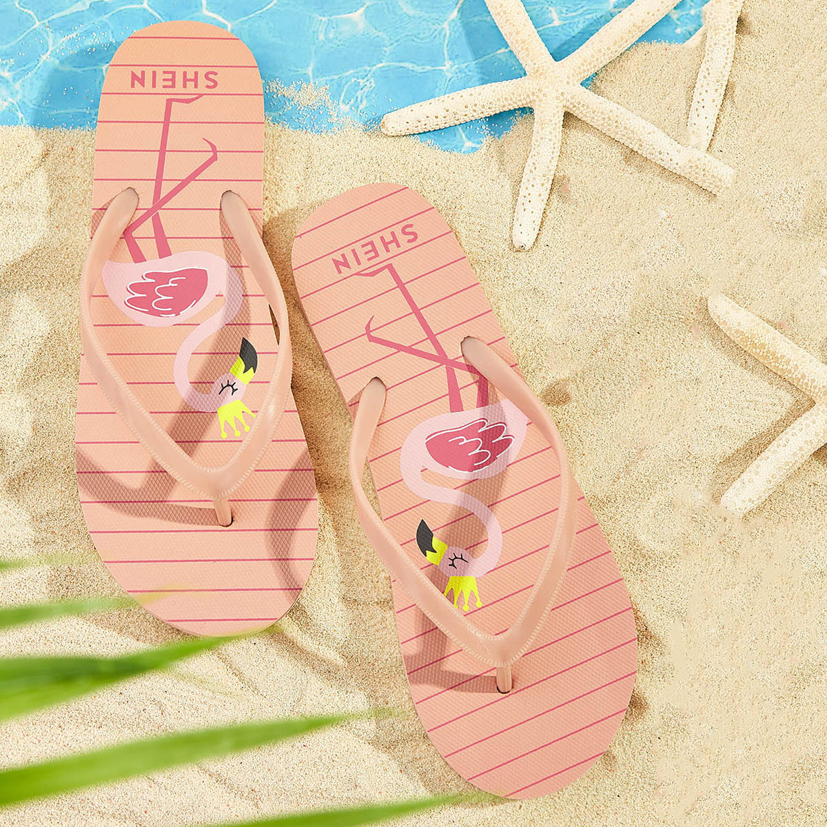 Flamingo patroon tenen pantoffels