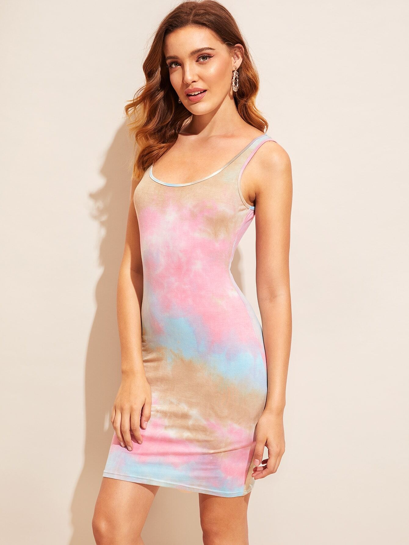 Фото - богимский Яркийпринт многоцветный Платья от SheIn цвет многоцветный