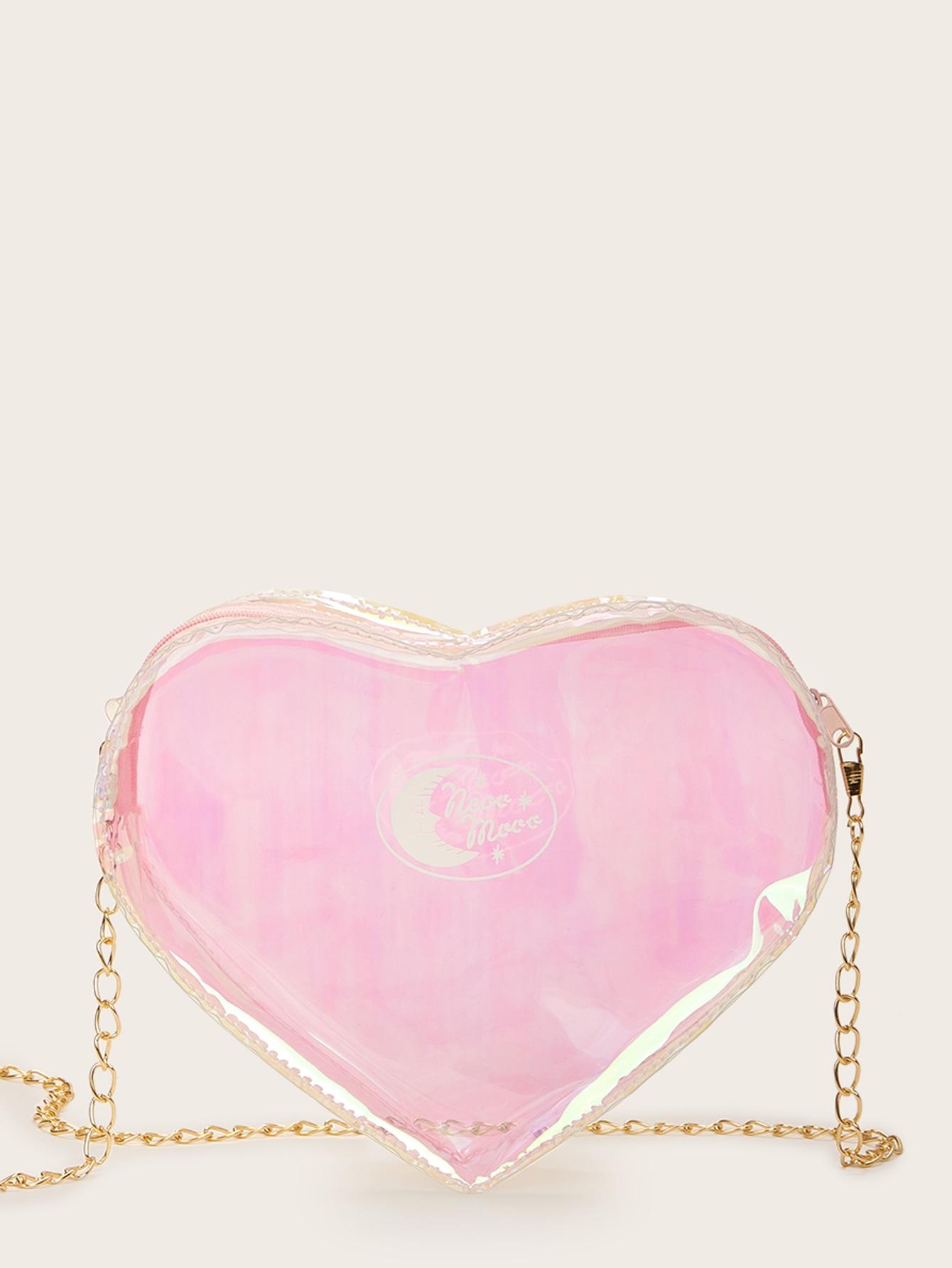 Повседневный Одноцветный розовый Сумка через плечо от SheIn