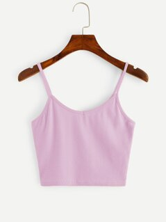 Slim Fitted Crop Cami Top