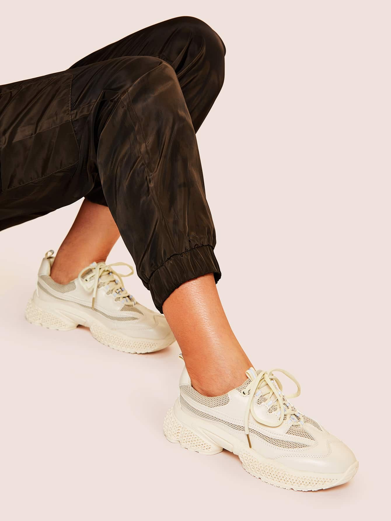Lace-up Front Chunky Sole Trainers null
