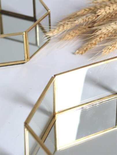 Polygon Design Jewelry Storage Tray 1pc null, ,