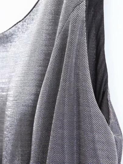 Mesh Panel High Waist Glitter Dress null, ,
