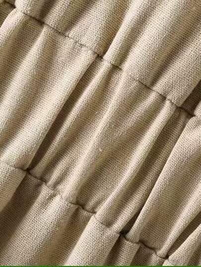 Ruffle Hem Button Front Shirt Dress null, ,