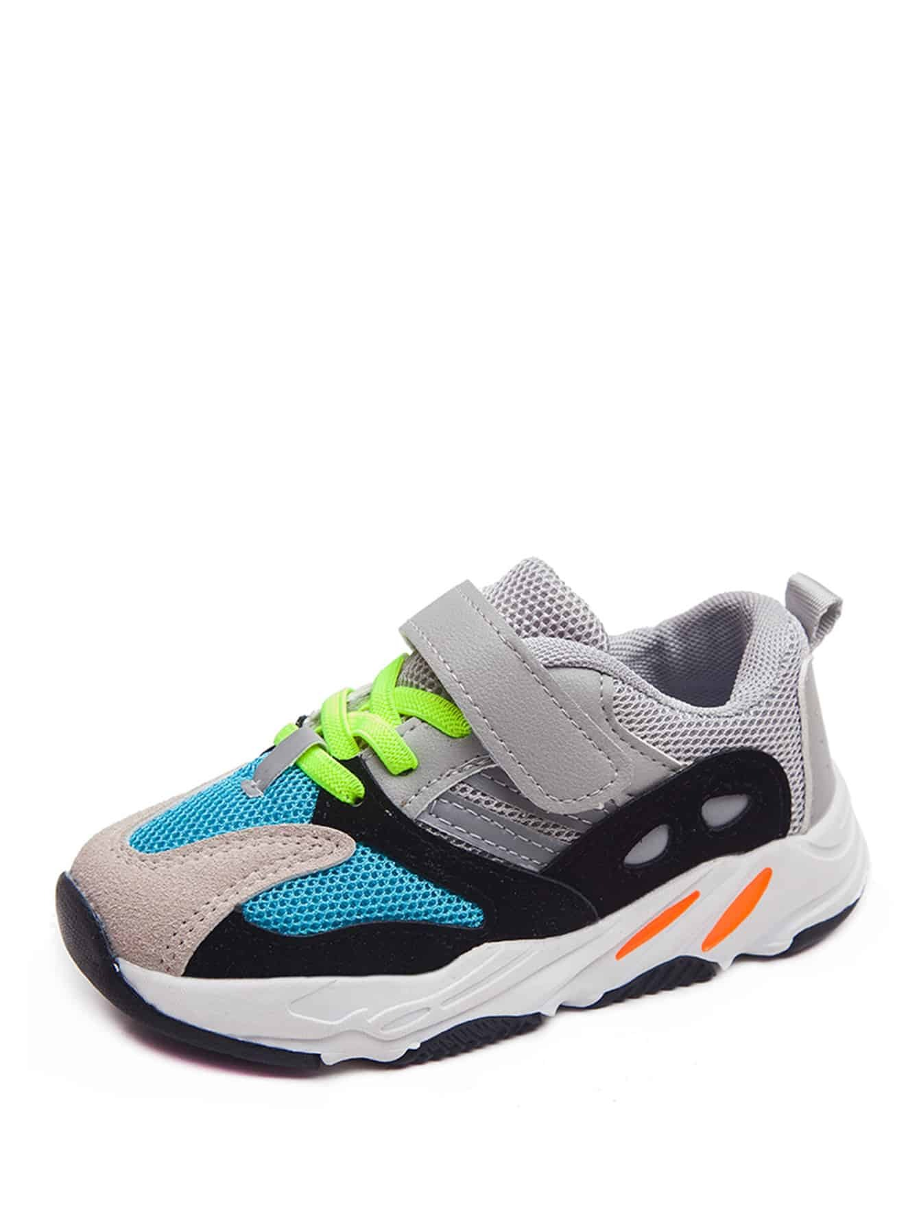 Toddler Colorblock Lace-up Chunky Sneakers null