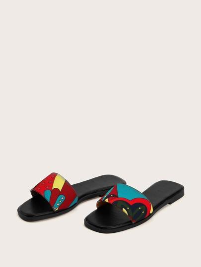 Cartoon Pattern Flat Slippers null, ,