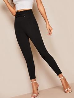 Corset Waist Skinny Pants