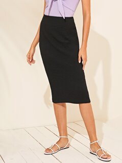 Zip Side Pencil Skirt