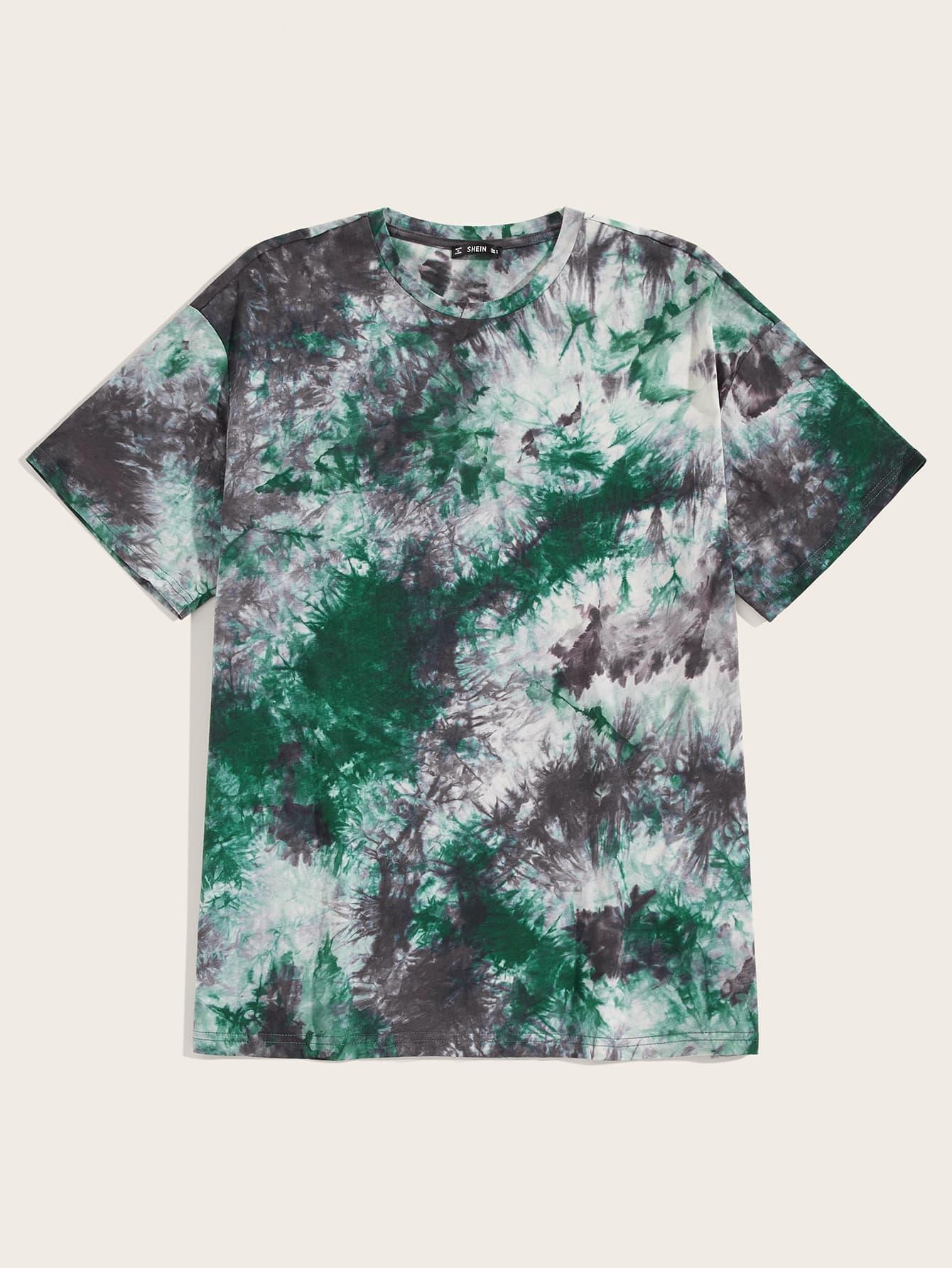 Фото - Мужская разноцветная футболка от SheIn цвет многихцветный