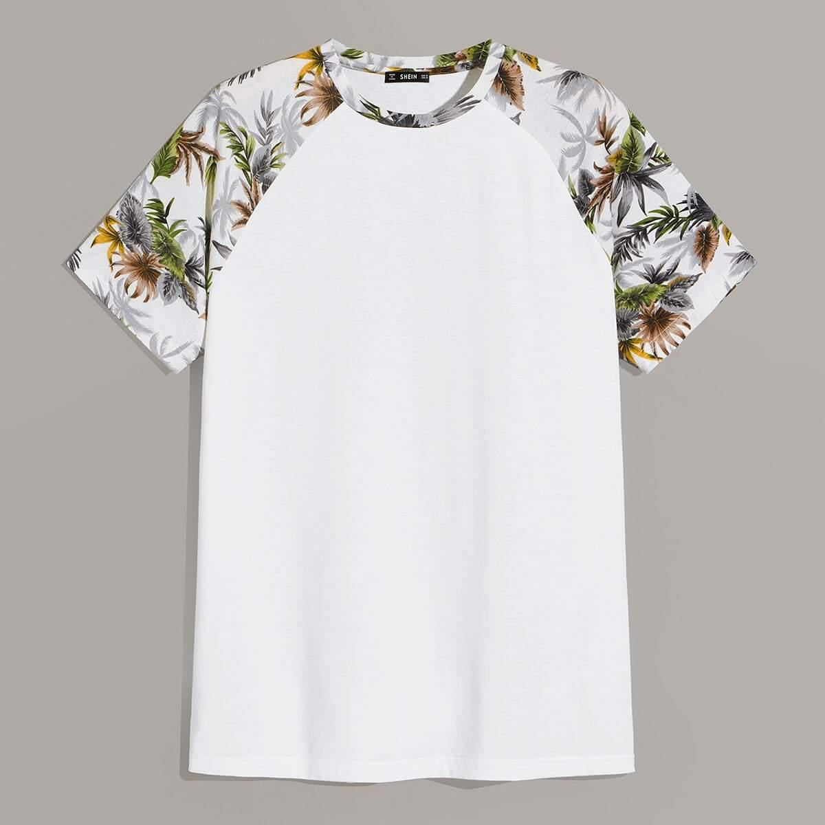 Wit Casual Tropisch Shirts mannen