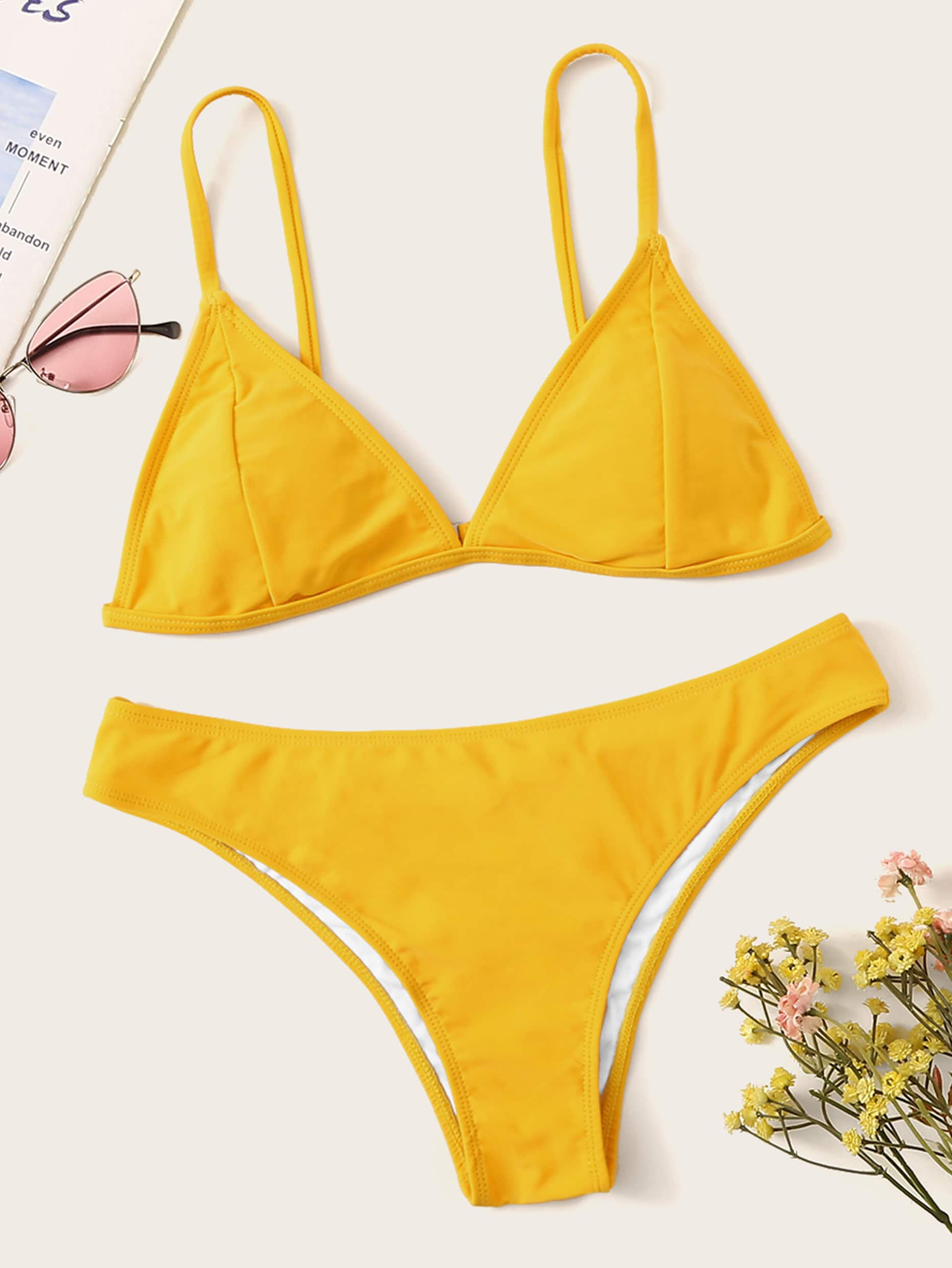 b85f2f5ddd8 Triangle Swimwear | ROMWE