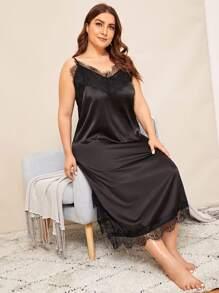 Satin | Dress | Lace | Plus