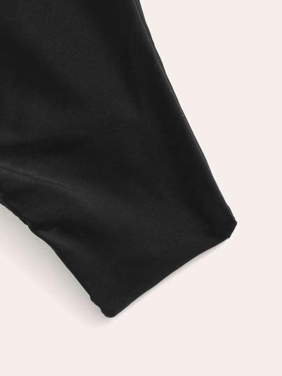 SheIn / Lace-up Top With Tanga Two Piece Swimwear