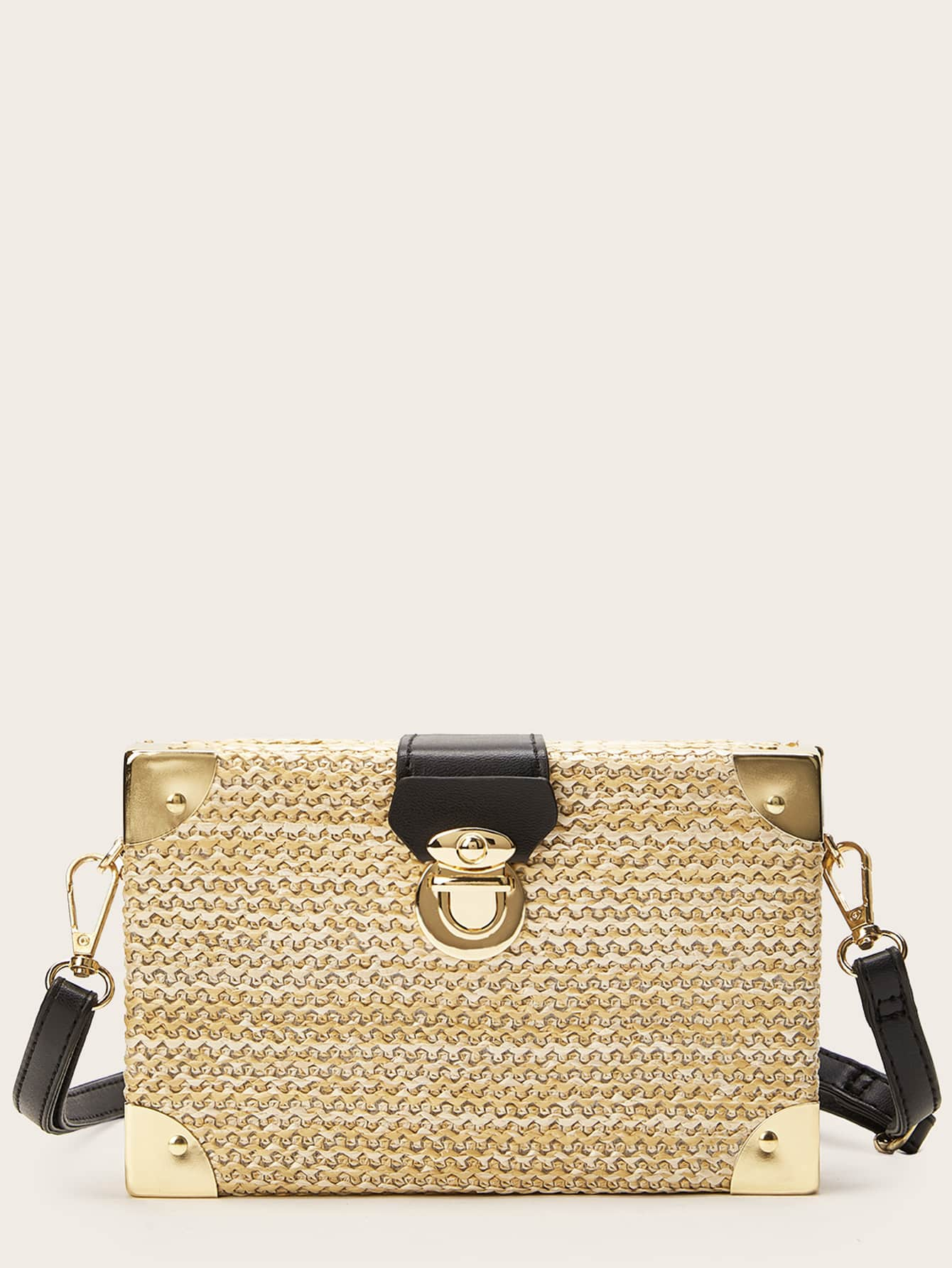 Фото - Квадратная толстая сумка от SheIn бежевого цвета