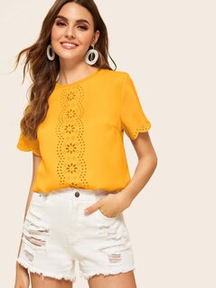 Scallop Trim Laser Cut Top